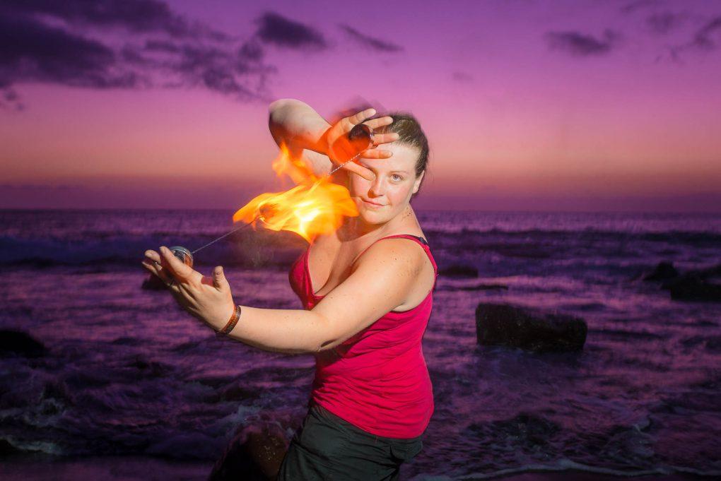 Feuershows am Strand